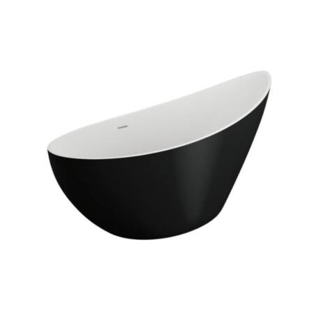 M-Acryl Paradise kád matt fekete 180x80